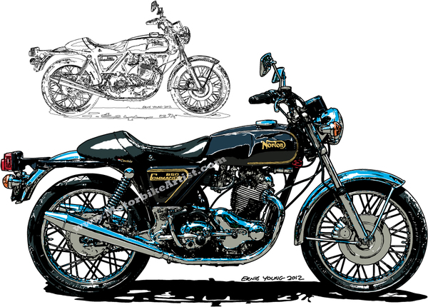 16 Vintage Motorcycle Vector Graphics Images