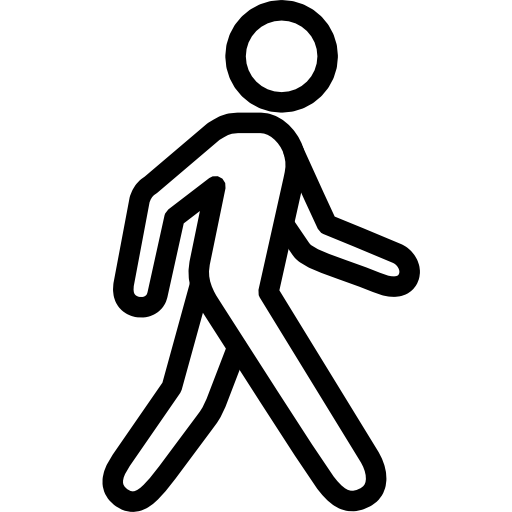 Walking Person Icon Transparent Background