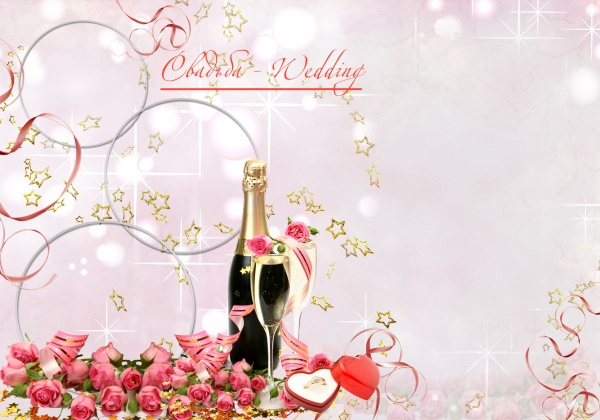 11 Romantic Wedding Background PSD Images