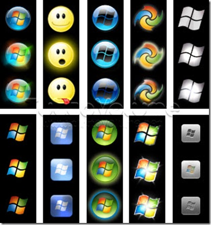 Windows 7 Start Button Orbs