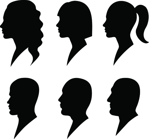 Woman Side Profile Face Silhouette Free