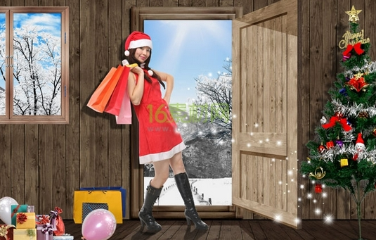 Women Christmas Shopping Images Free