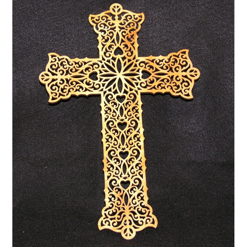 Wood Pattern Cut Out Crosses