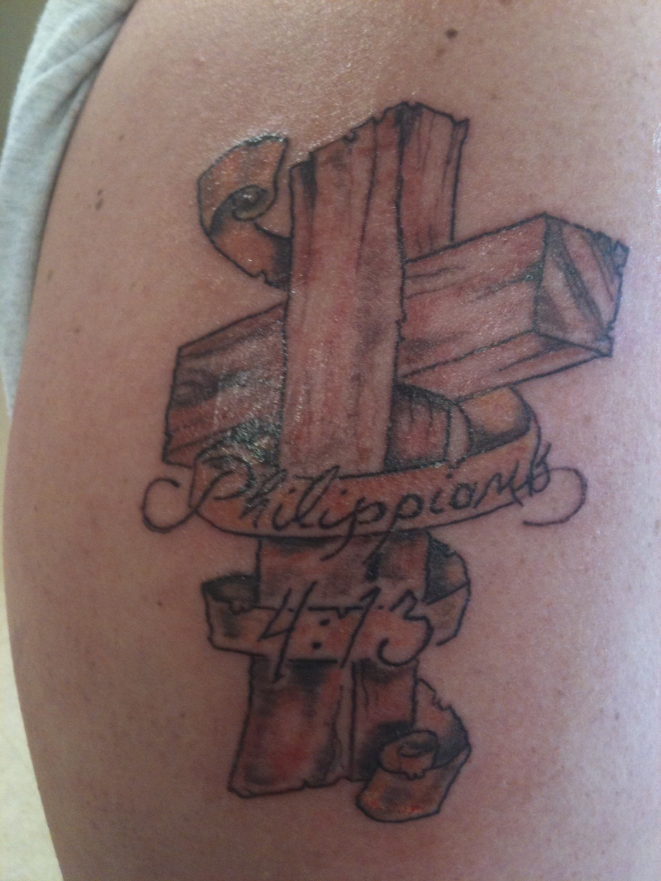 Wooden Cross Tattoo Designs