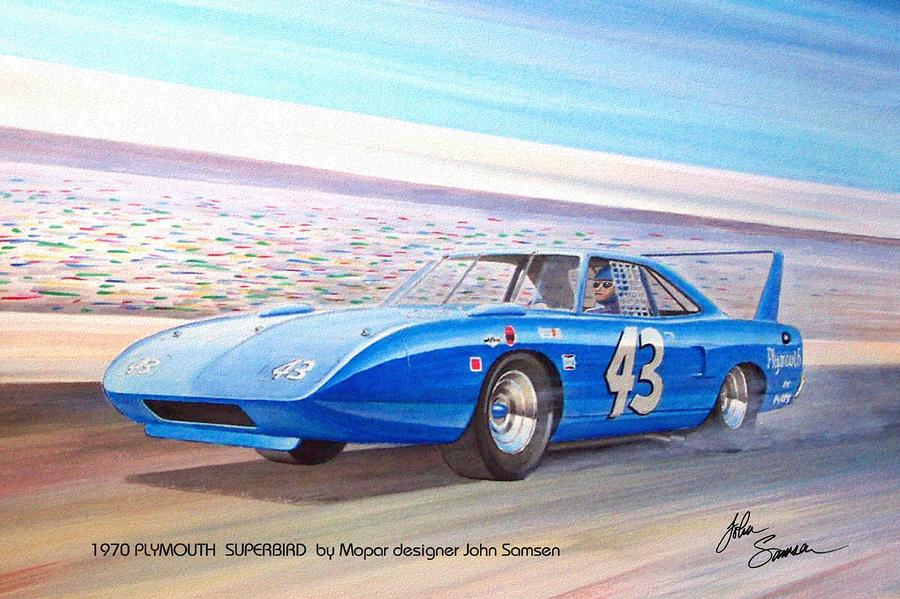 1970 NASCAR Cars Drawings