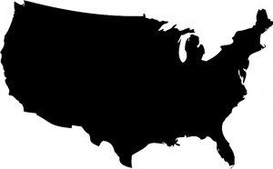 14 USA Map Vector Black Images