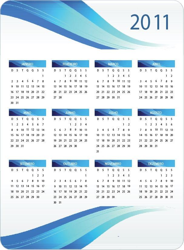 17 2011 Calendar Vector Images