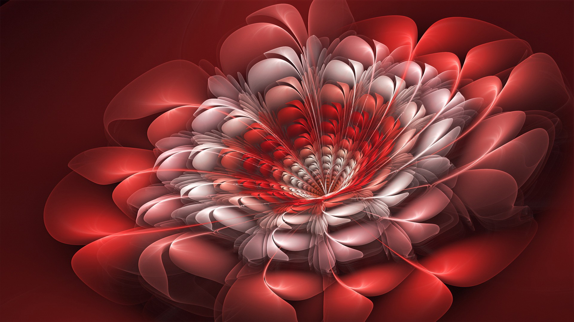 Abstract 3D Fractal Art Flowers