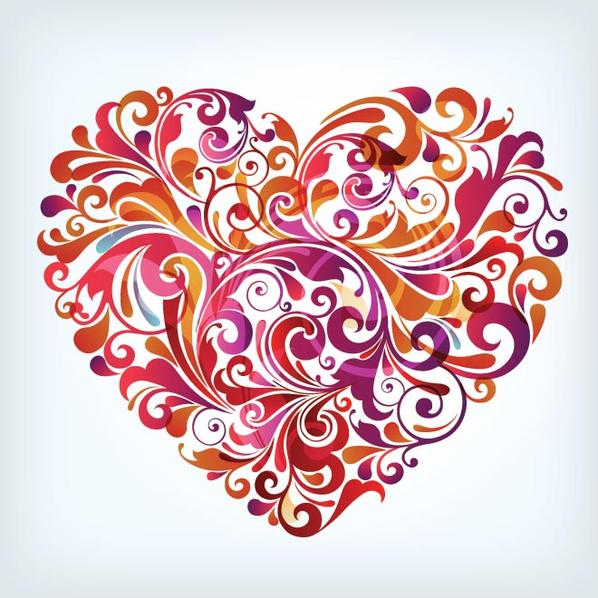 13 Abstract Art Colorful Heart Vector Images