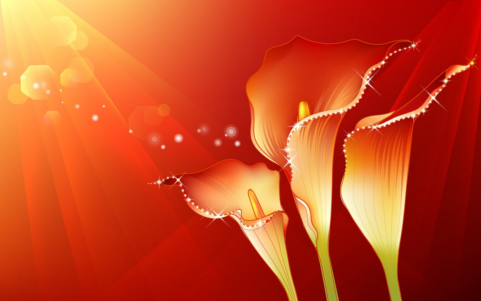 17 Red Abstract Flower Design Images