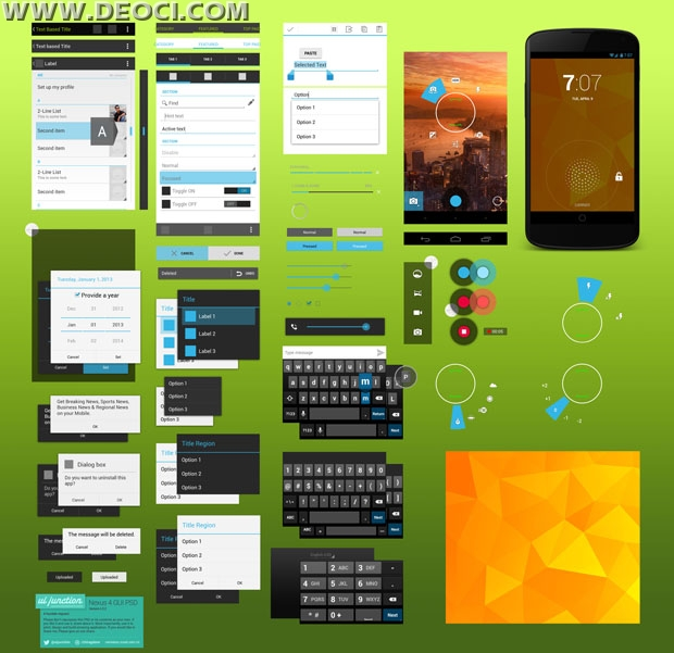 15 android app design template psd images android app design