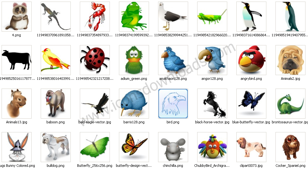 9 Animal Icon Shortcut Images