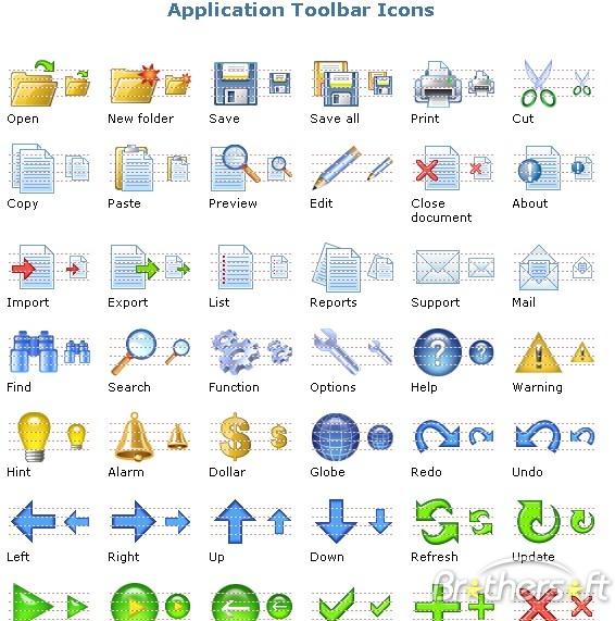 Application Toolbar Icons