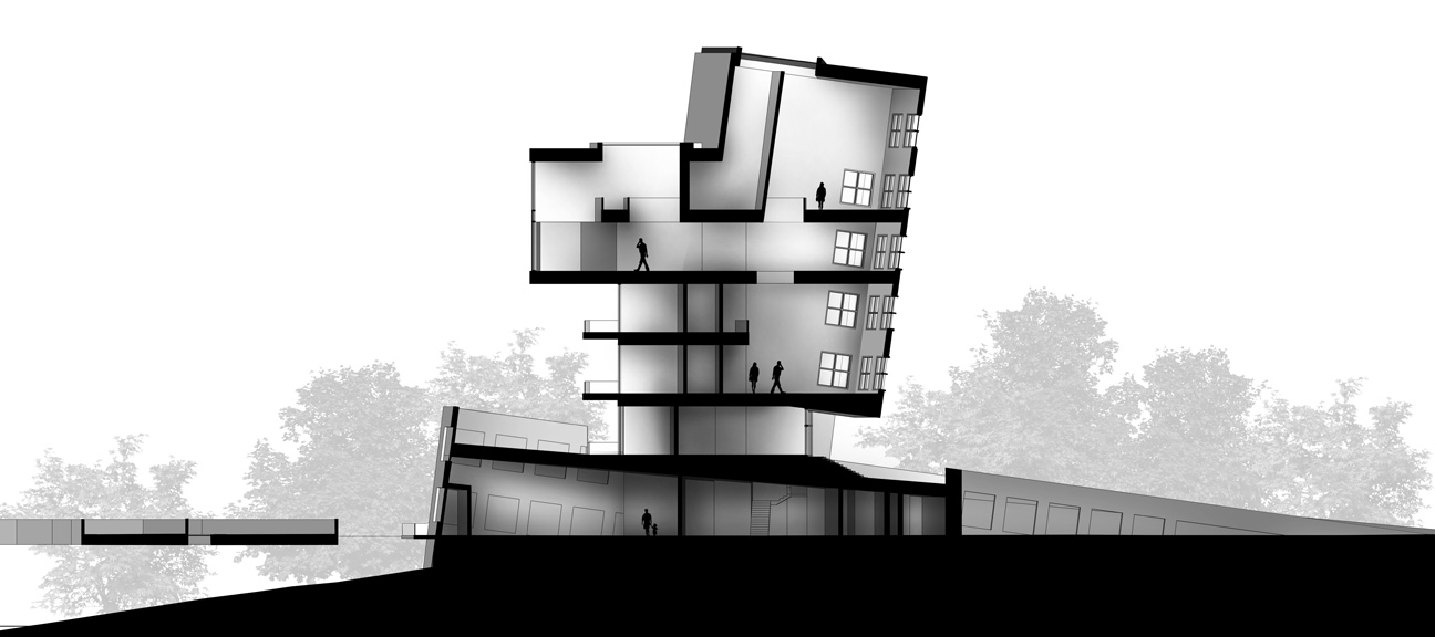 Architecture Photoshop Section Model