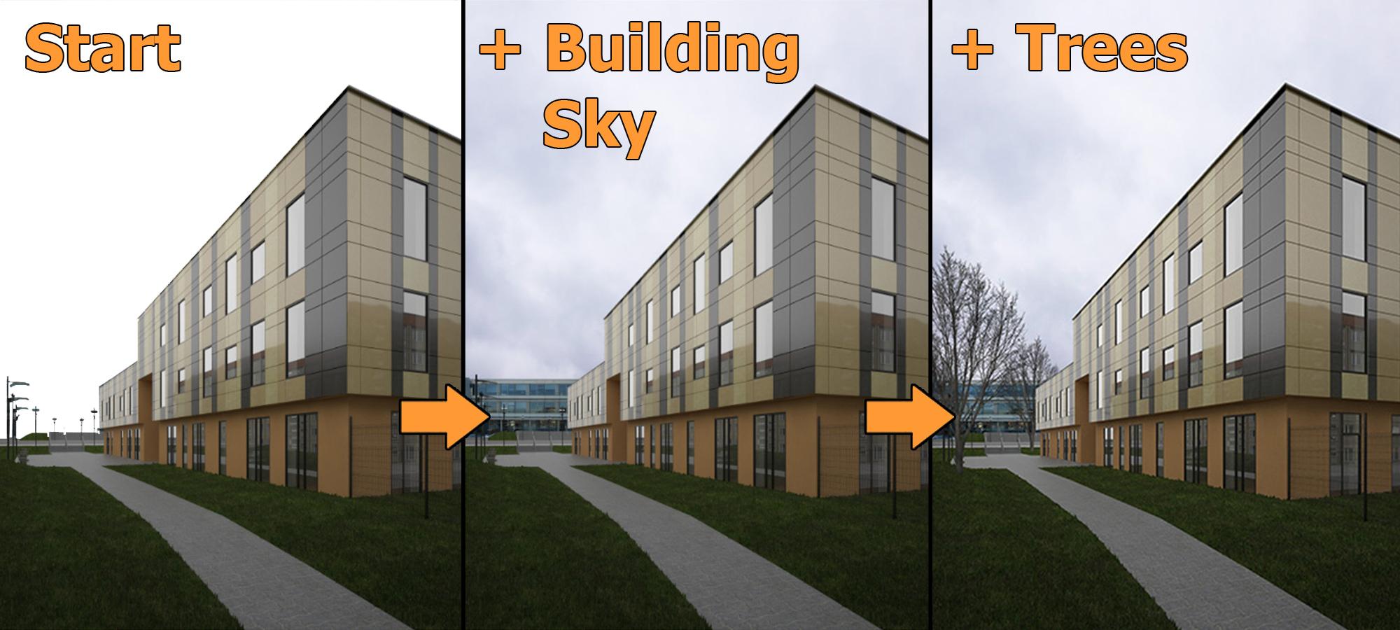 Architecture Rendering Photoshop
