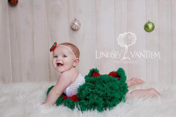 Baby Girl Christmas Photography