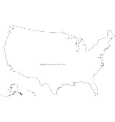 Us Map Black And White Vector Globalinterco - White vector map of the us