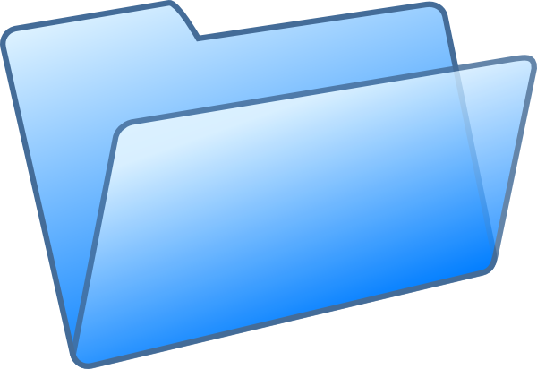 Blue File Folder Clip Art