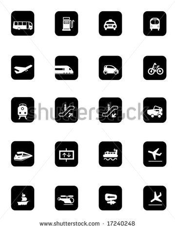 Bus Transportation Icon Vector