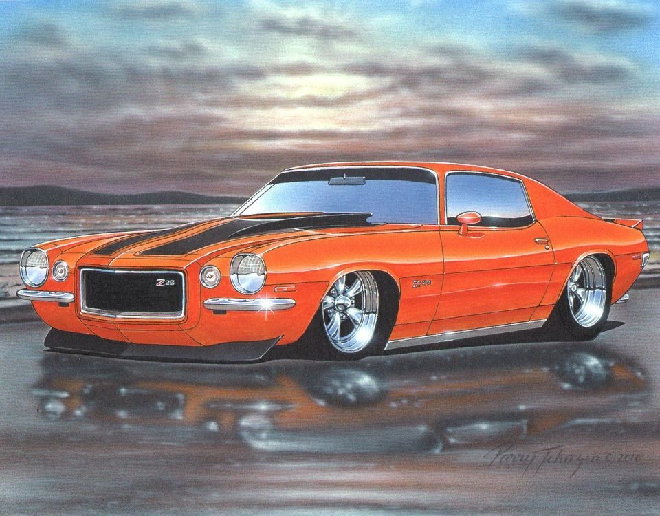 Camaro Muscle Car Art
