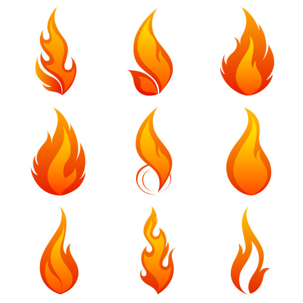 12 Flame Font Vector Images