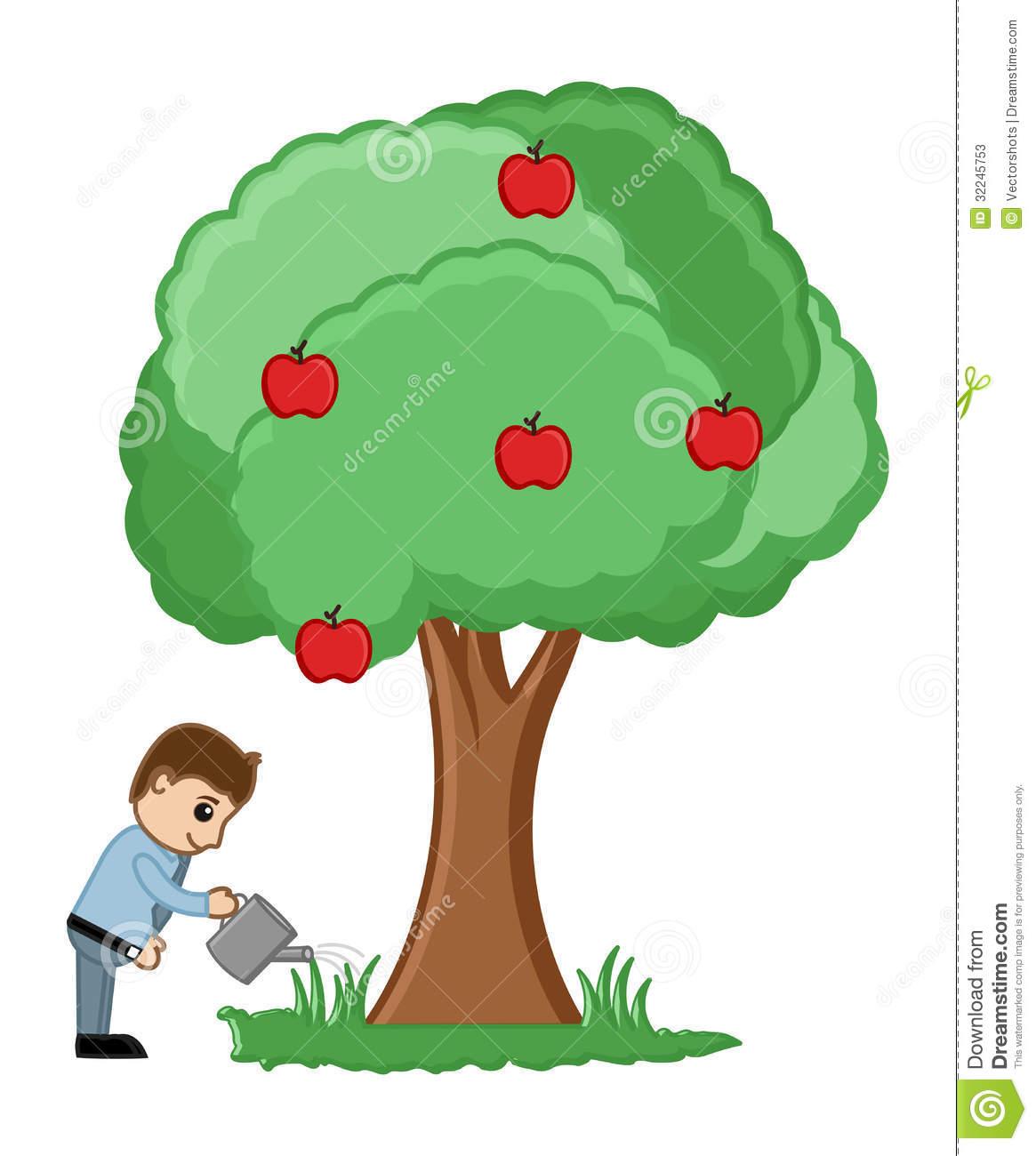 Cartoon Fruit Trees Clip Art
