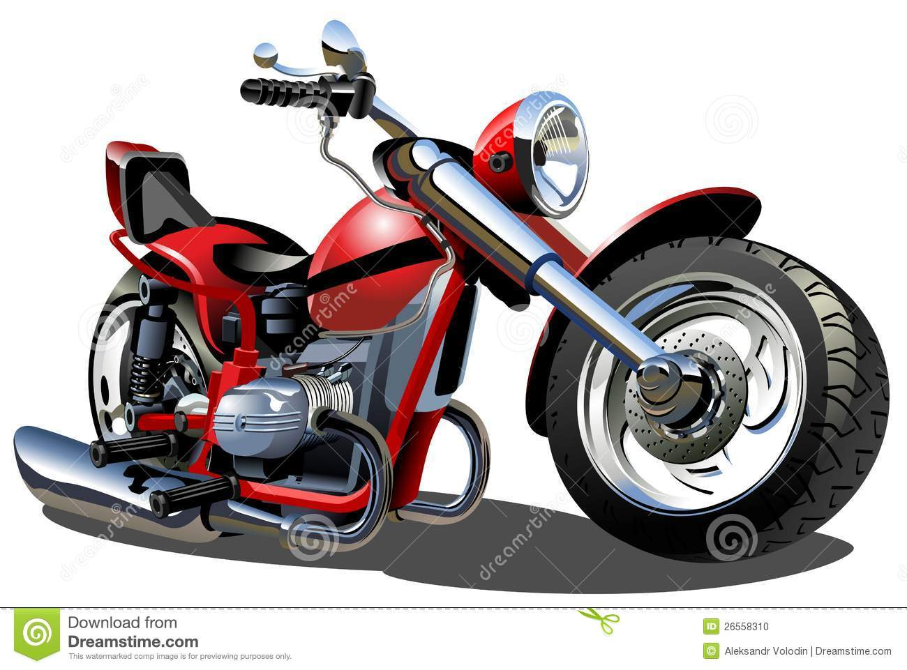 11 Vector Cartoon Motorcycle Images