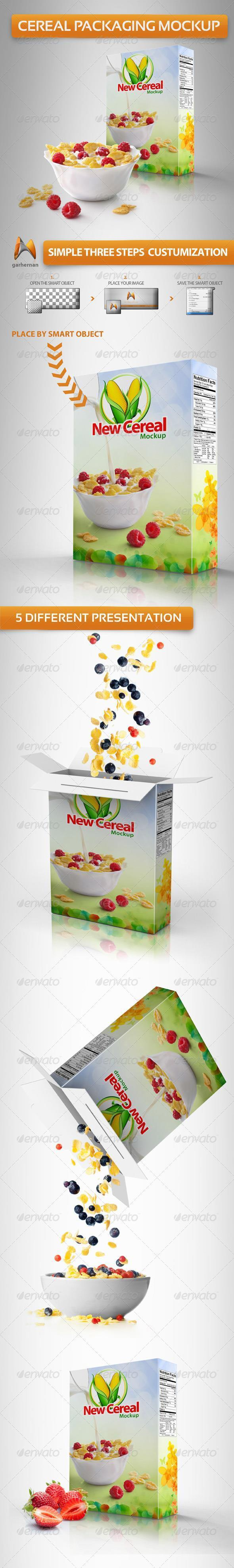 Cereal Box Packaging Template