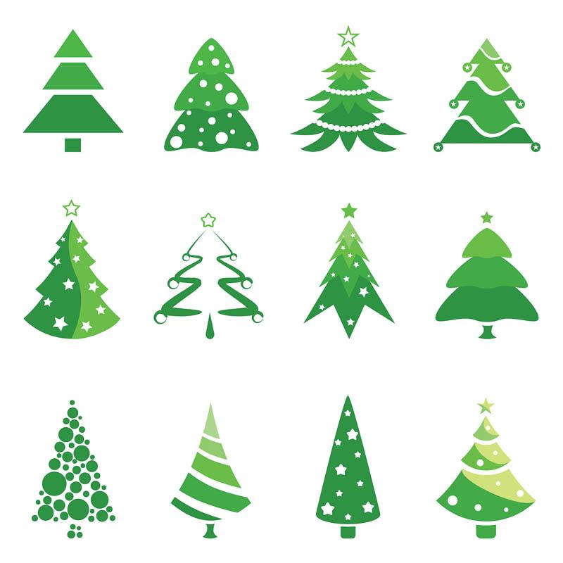 Christmas Tree Clip Art Logo