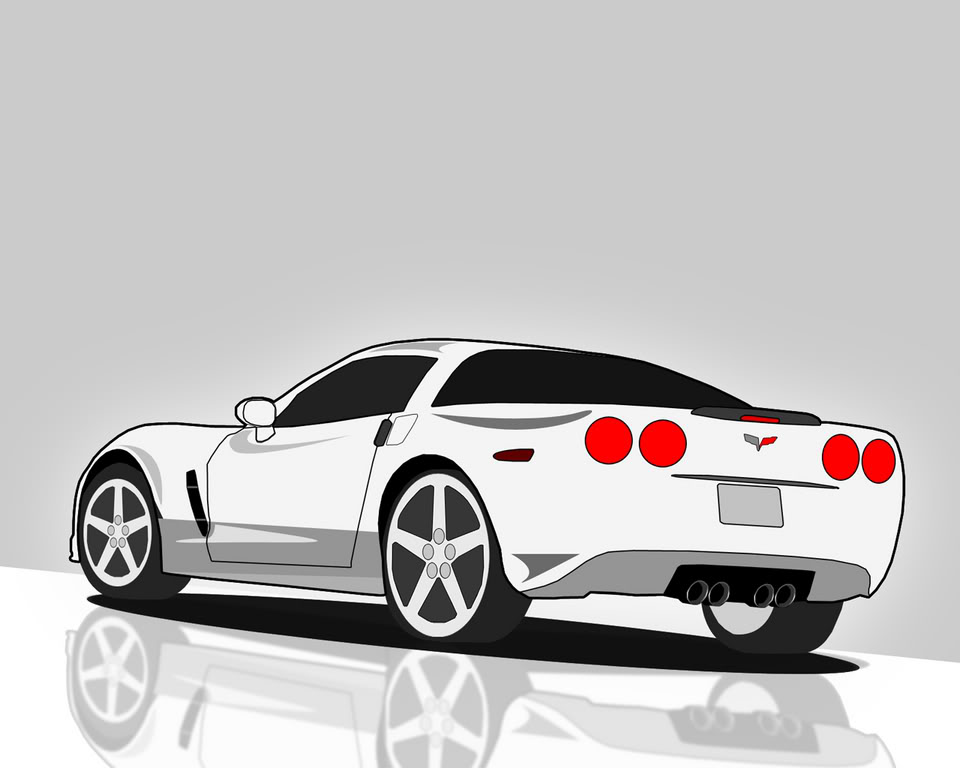 Corvette Logo Vector Clip Art