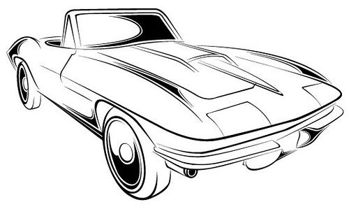 Corvette Stingray Logo Drawing