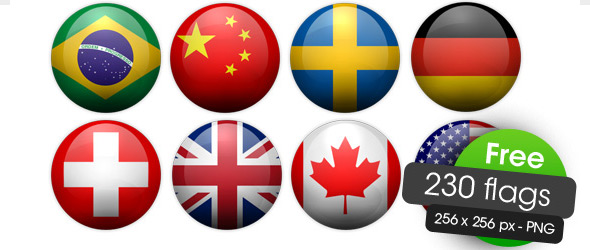 11 National Flag Icons PNG Images