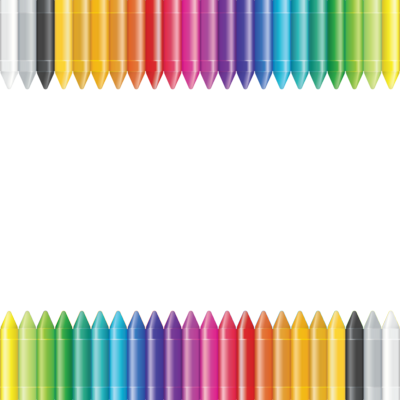 Crayon Border Clip Art Vector