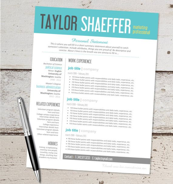 Free Cool Resume Templates Word | Resume Templates Free and Resume ...