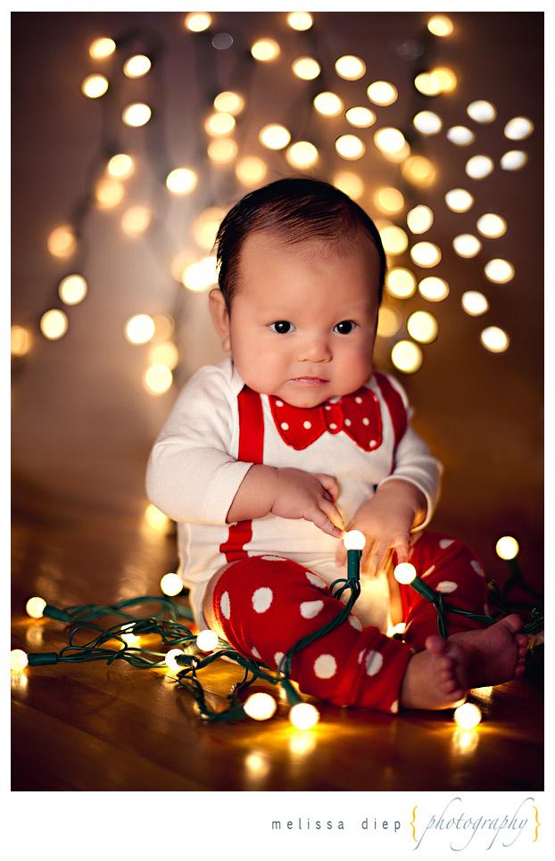 Cute Baby Christmas Card Idea