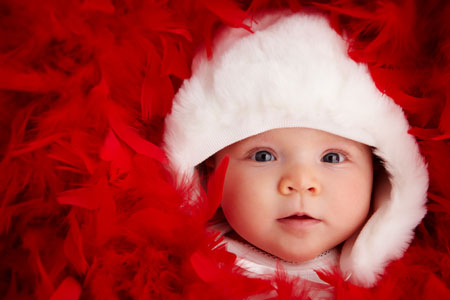Cute Baby Christmas Photography