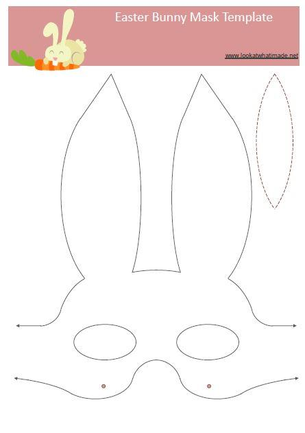 7 easter bunny template images easter bunny outline for Easter hat template printable