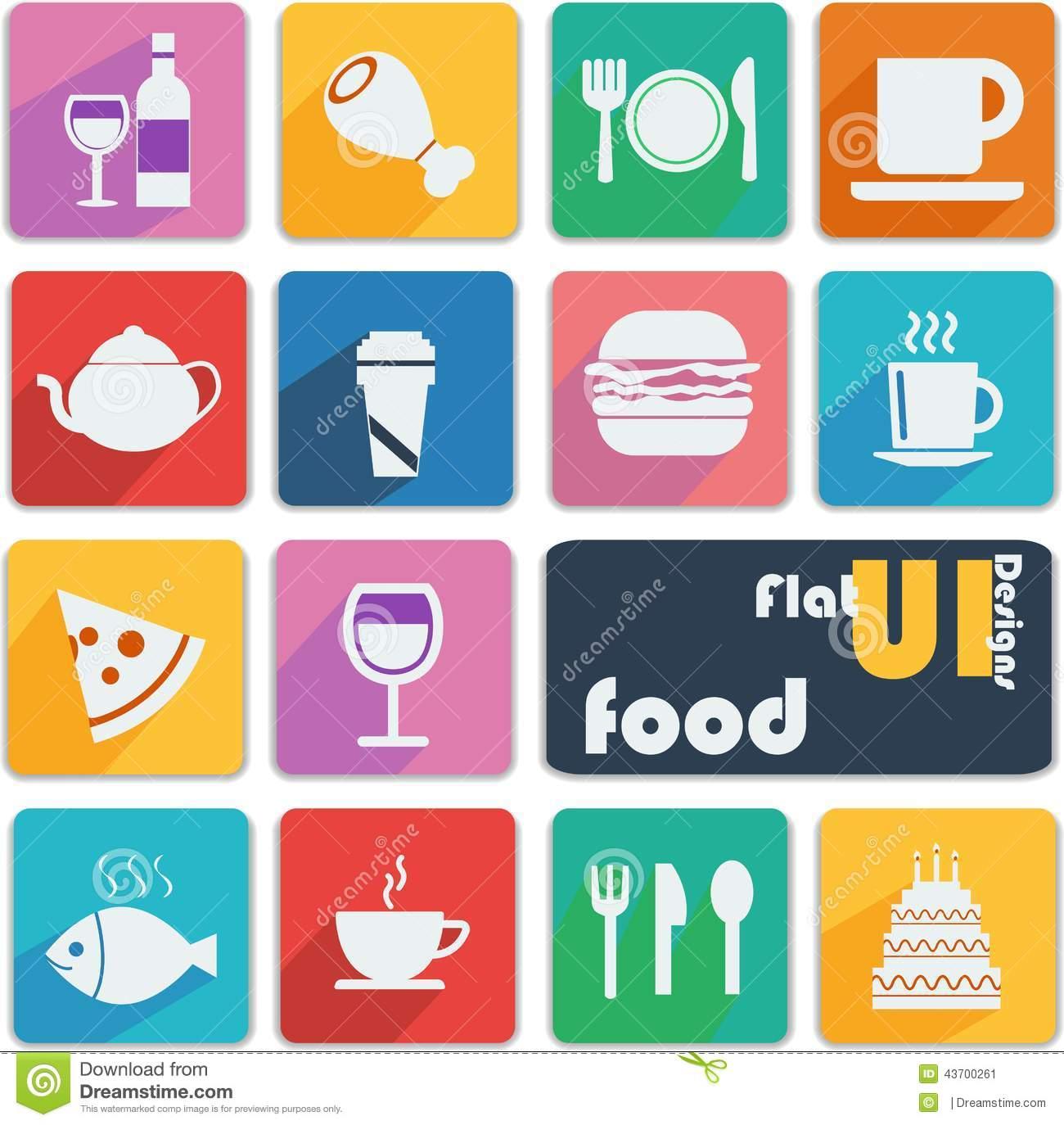 Flat UI Design Icons