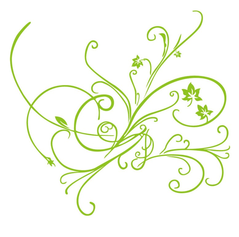 15 Simple Floral Ornament Vector Images - Simple Flower ...
