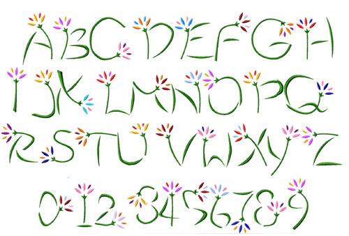 15 Flower Alphabet Font Images