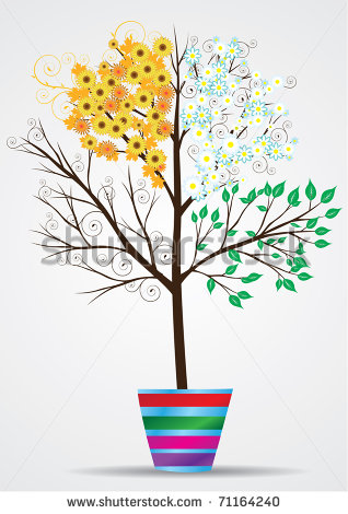 15 seasons tree vector images floral tree vector four