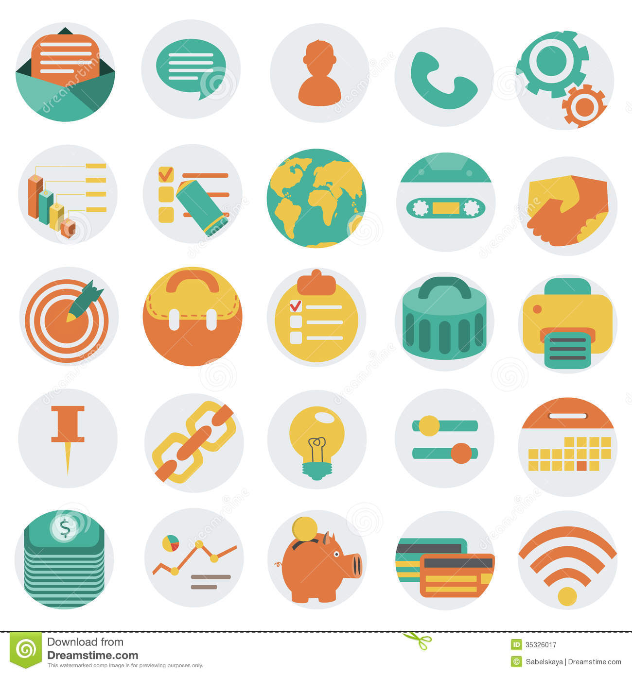18 Flat Business Vector Icons Images