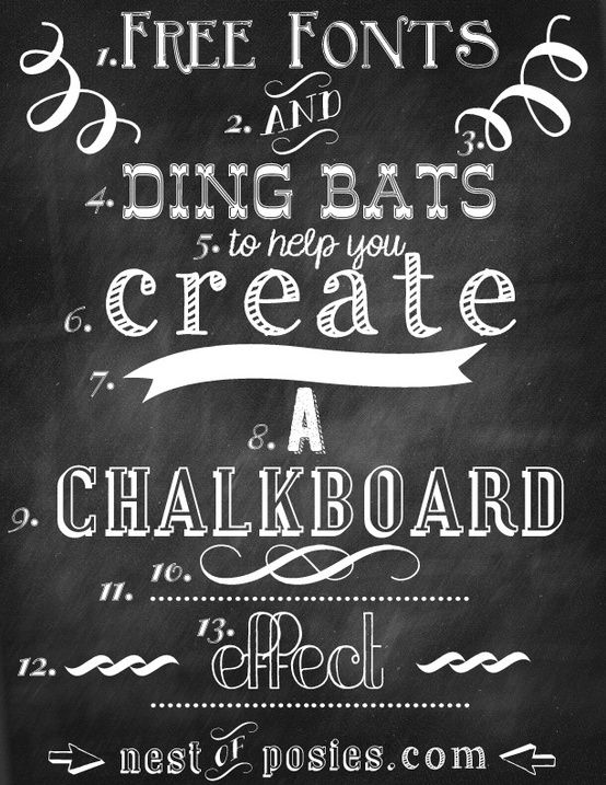 9 Chalkboard Fonts And Designs Images