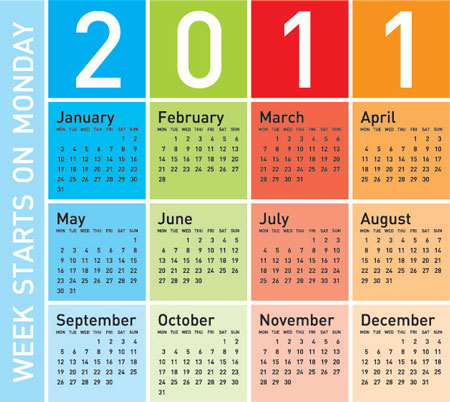 Free Colorful Calendars