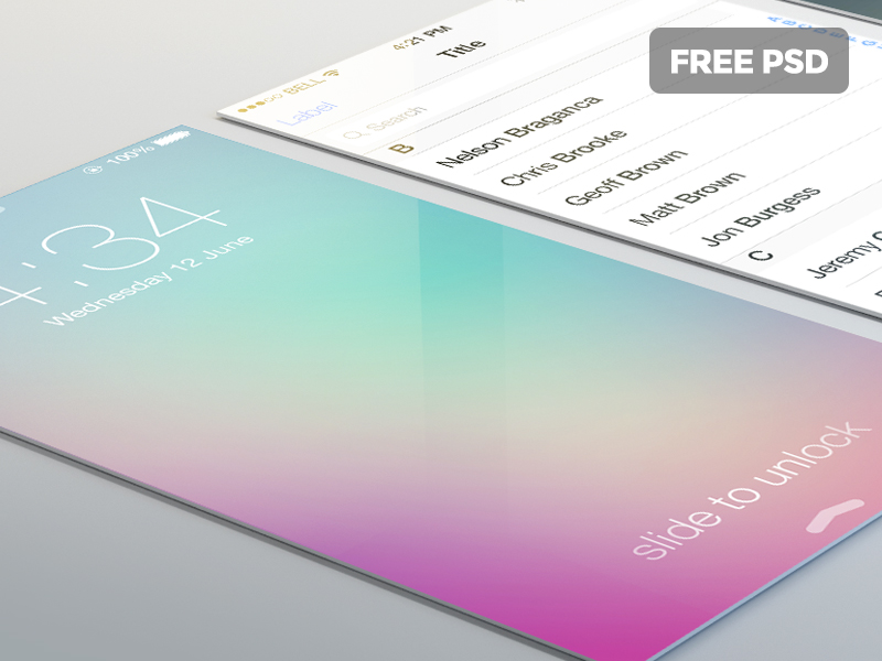 Free MockupScreens Perspective PSD