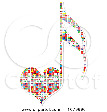 Free Music Note Heart