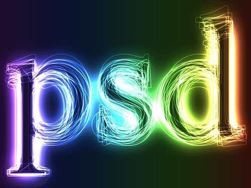 Free Psd Text Effect Neon