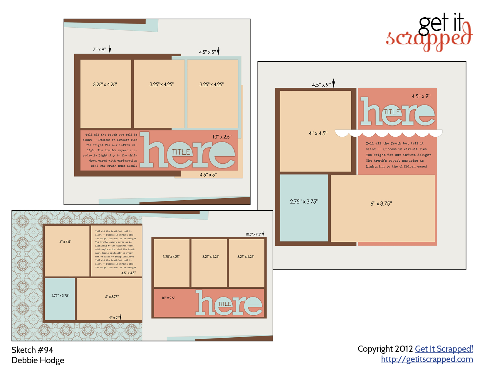 Free Scrapbook Page Templates