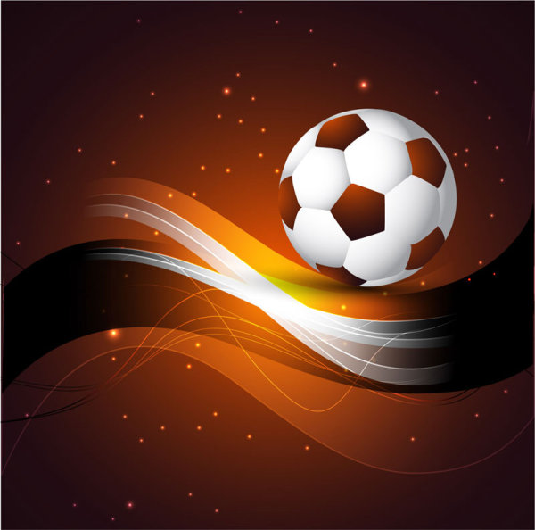8 Abstract Football Vector Images