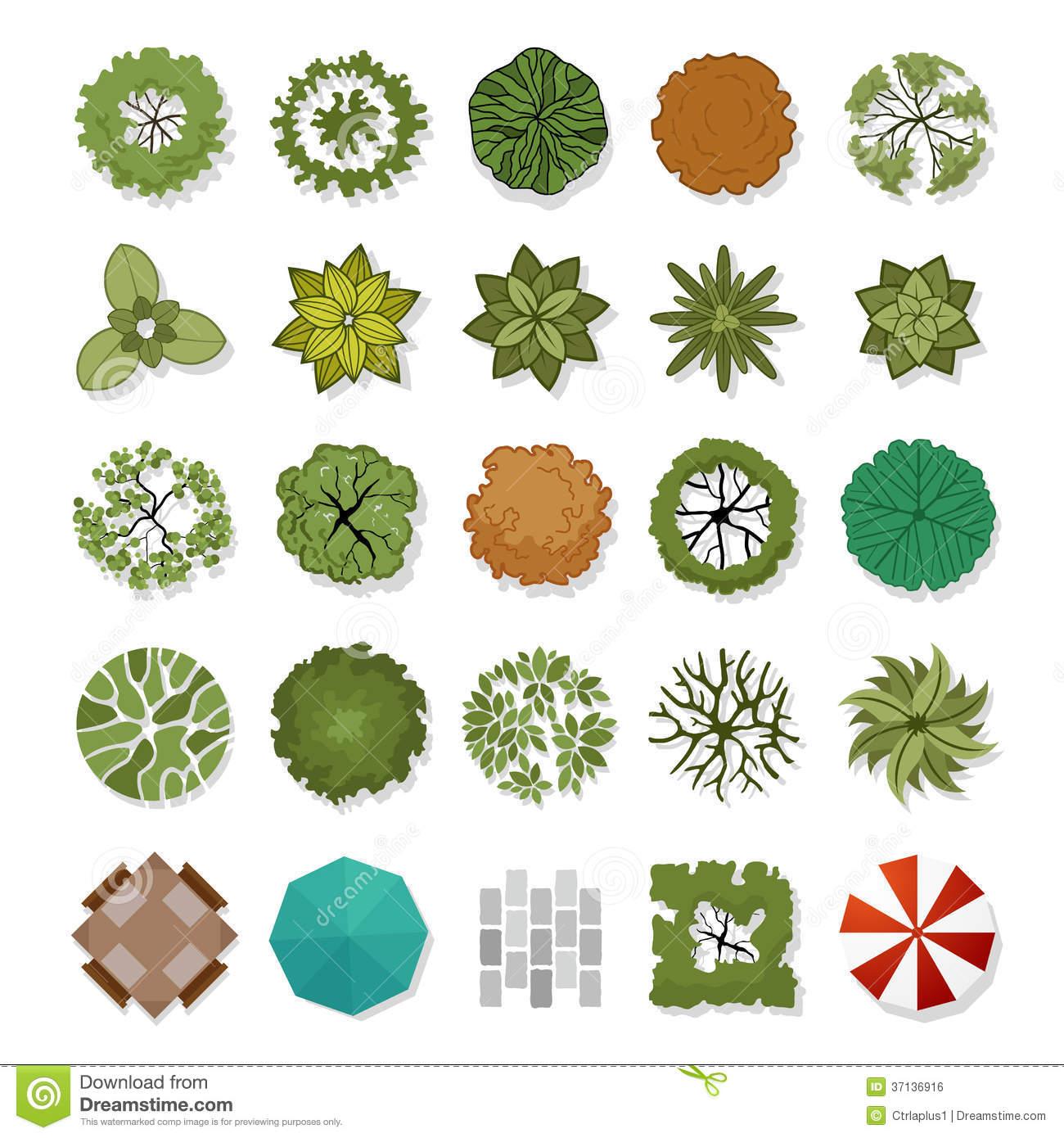 14 Landscape Elements Vector Images